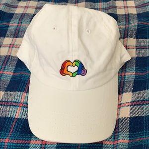 Disney Baseball Cap Rainbow Heart Hands